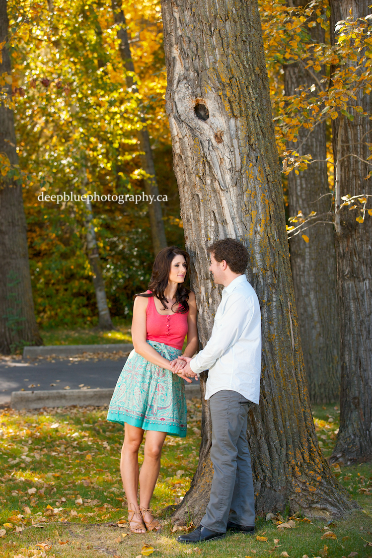 Emily Murphy Park in Edmonton's River Valley Engagement Pictures