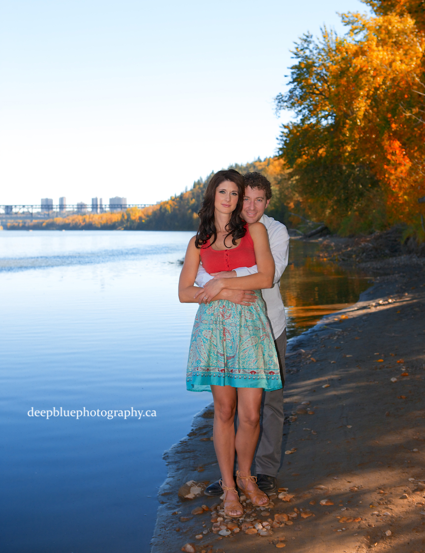 Edmonton River Valley Engagement Pictures - Photo of Couple in the River Valley