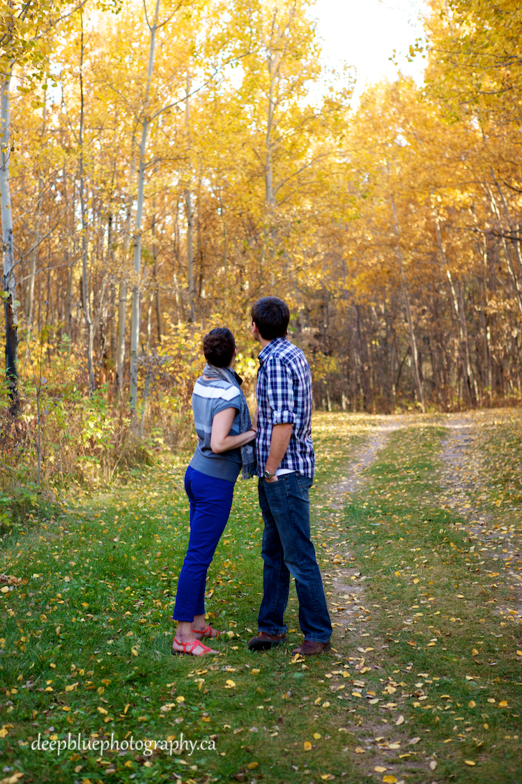 A Picture From Blackfoot Trails Engagement Pictures During The Fall