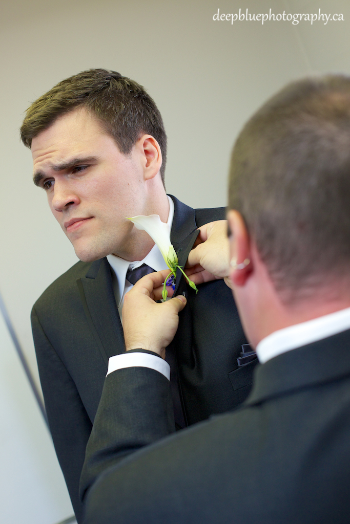 Chris Gets His Boutonniere Pinned On