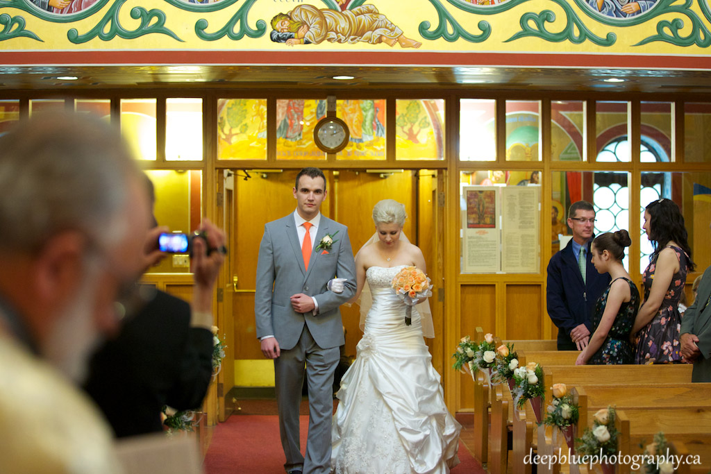 Bride and Groom Processional During A St George Ukrainian Catholic Parish Wedding