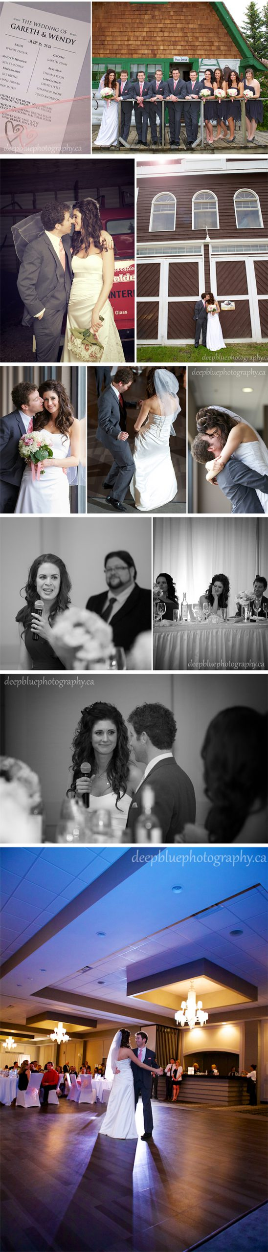 Photographs from the Wedding Reception and Dance Grande Prairie Wedding Photography
