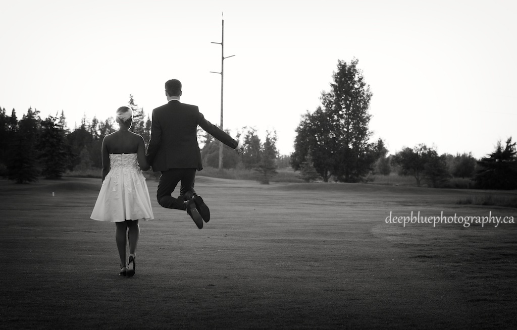 Photos of the Bride and Groom Walking and Being Cute