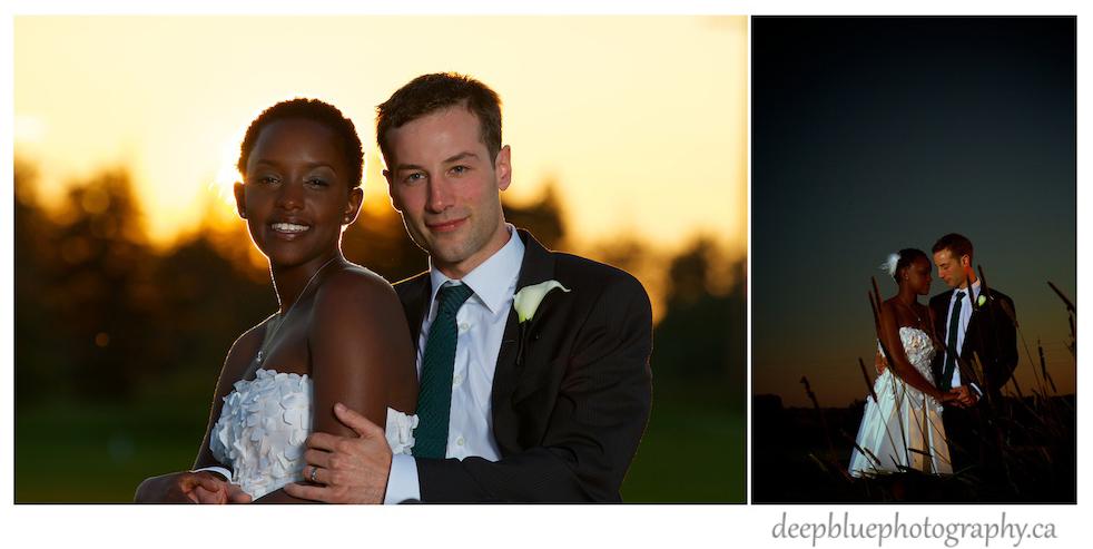 Dustin and Gaju Sunset Wedding Portraits