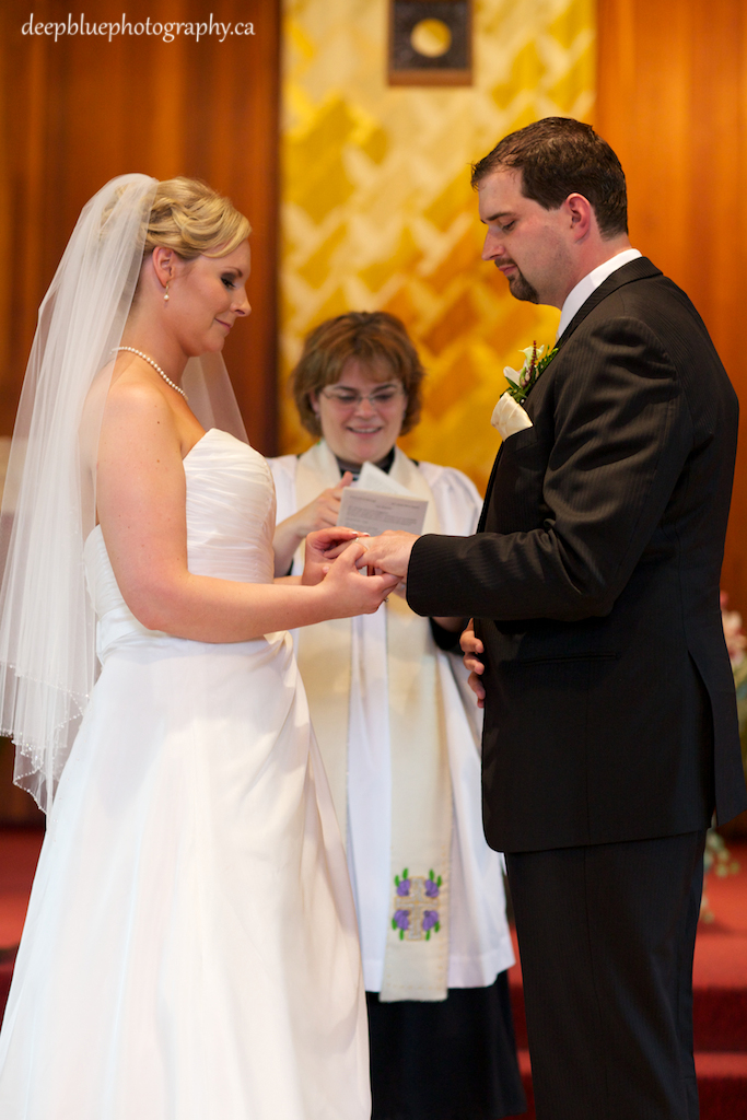 Photo of Couple Exchanging Rings