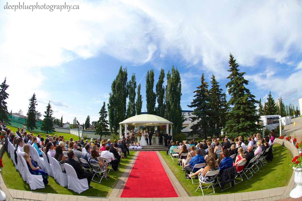 Chateau Louis Hotel Wedding Ceremony Outdoors