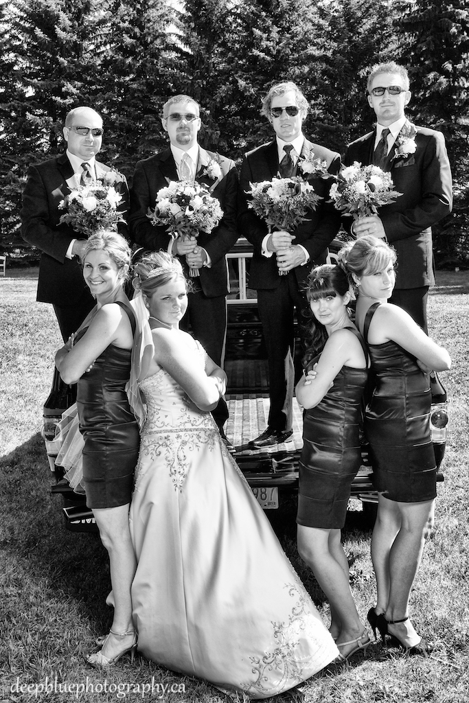 Tara & Tyler with Their Wedding Party