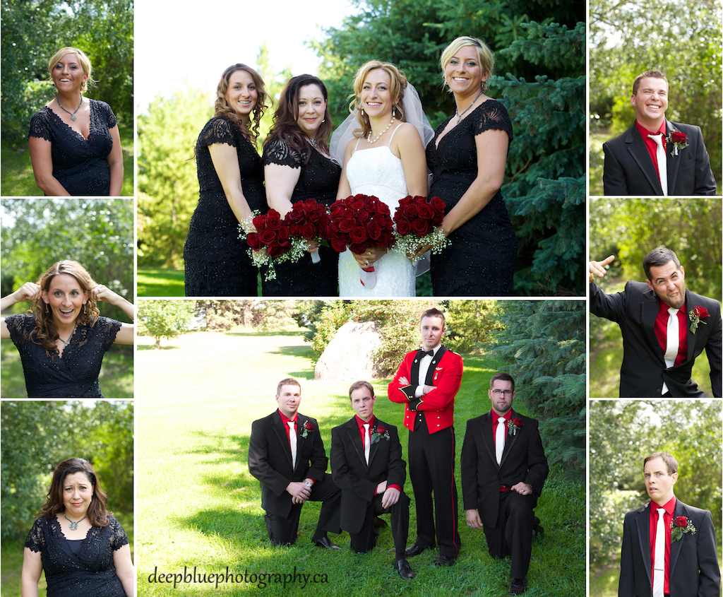 Wedding Party Pictures At A Country Wedding In Wetaskiwin