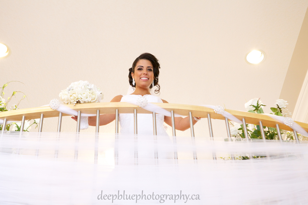 Bridal Portrait on Balcony