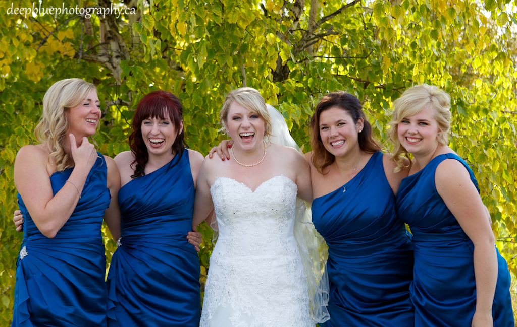 Rebecca and Her Bridesmaids Laughing