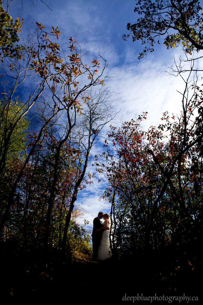 Autumn Wedding Portrait Edmonton