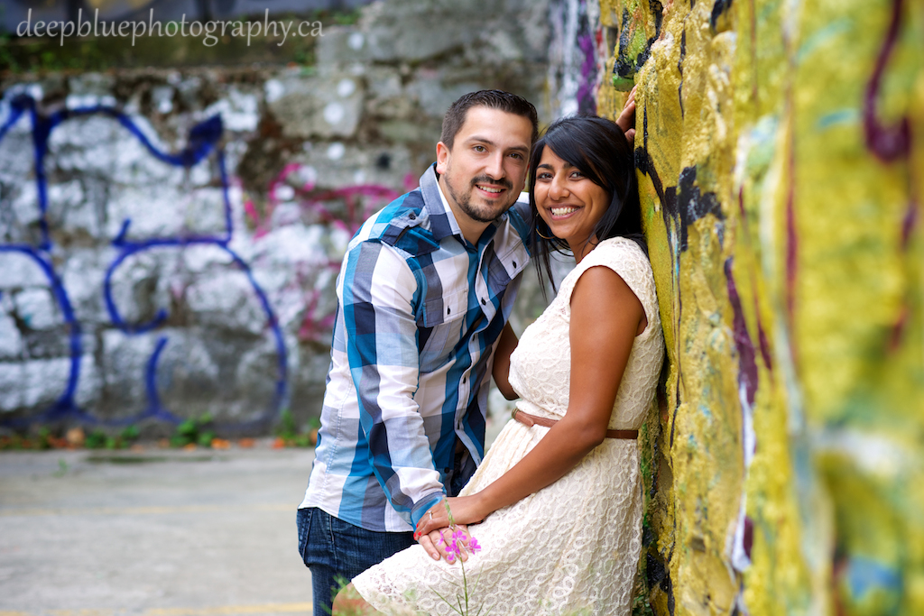 Unique Vancouver Engagement Pictures With Graffiti