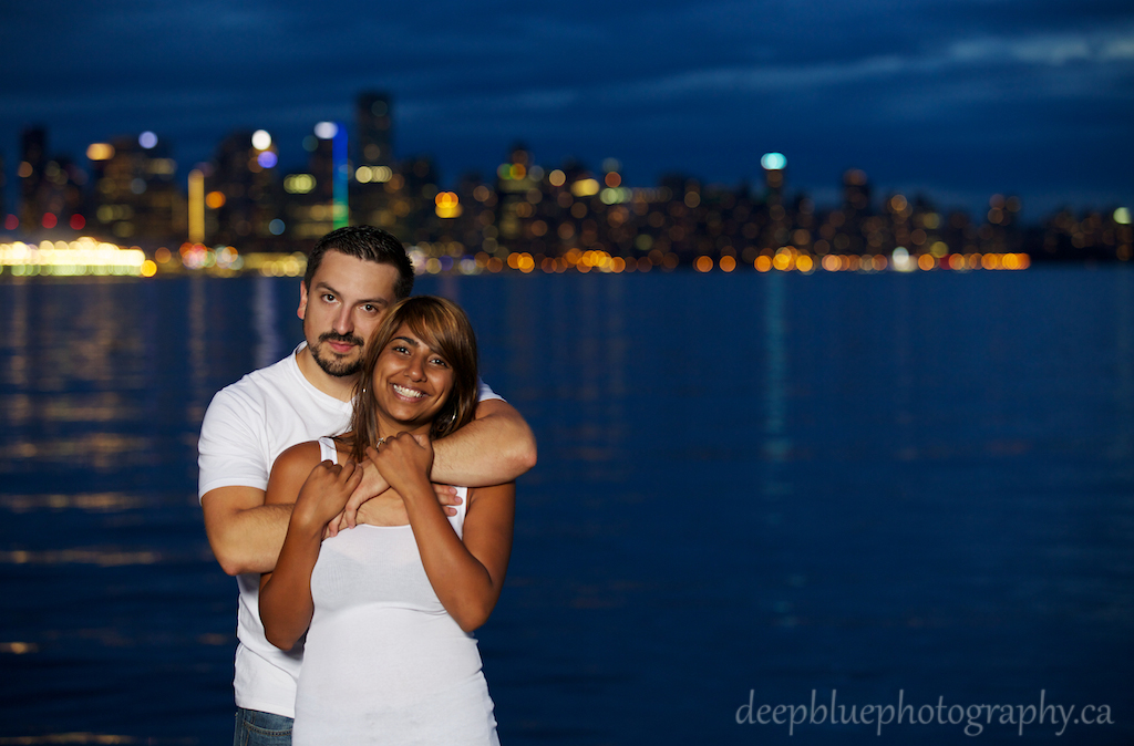 Unique Vancouver Engagement Pictures At Night
