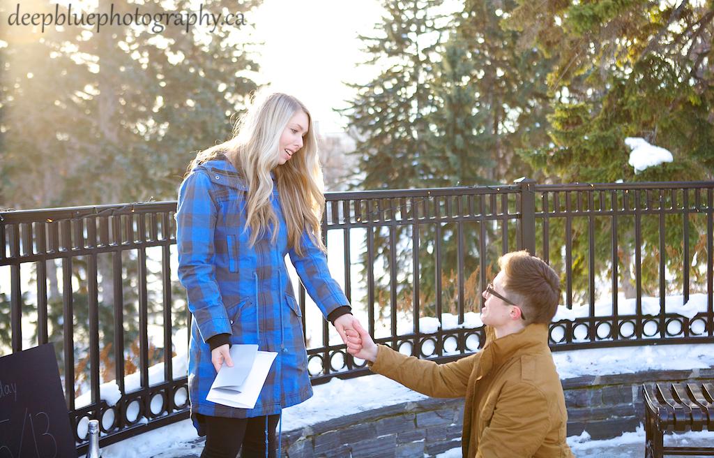 Surprise Proposal In Edmonton - Jamie Proposing to Jenny