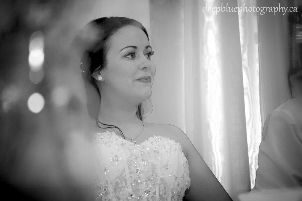Photo of Bride During Edmonton Wedding Reception - Fort Edmonton Park Wedding Photography