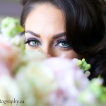 Photo of Bride and her Flowers