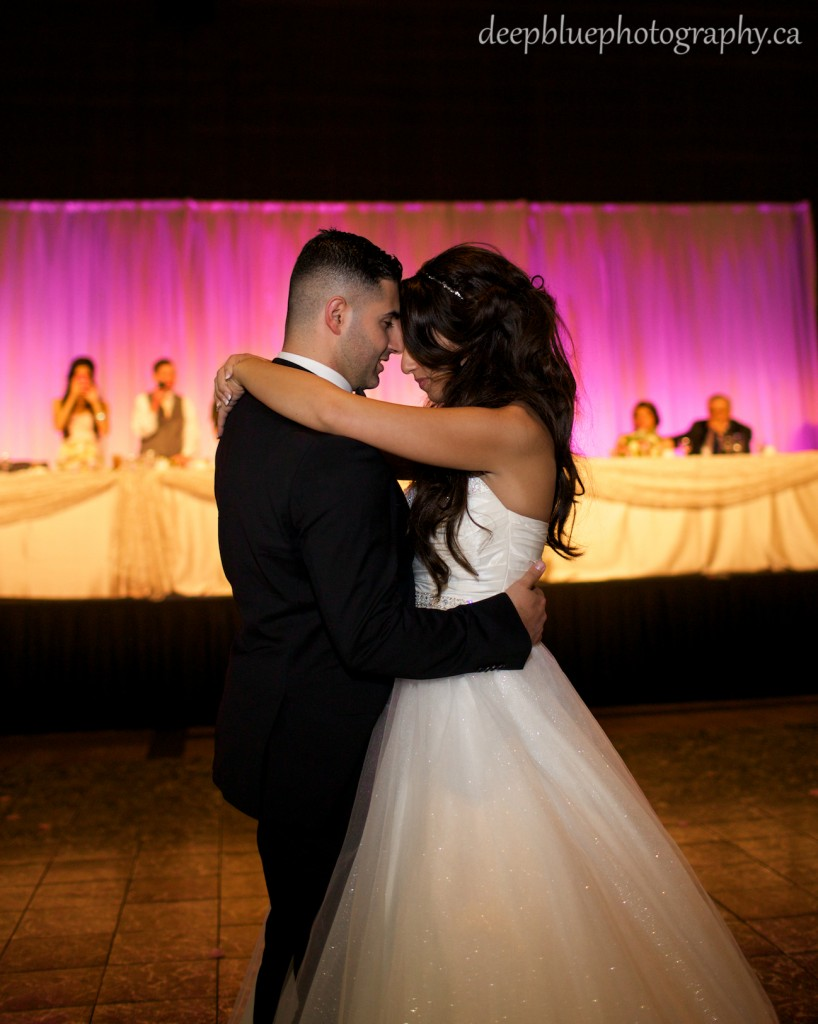 Bride and Groom First Dance at the Shaw Conference Centre