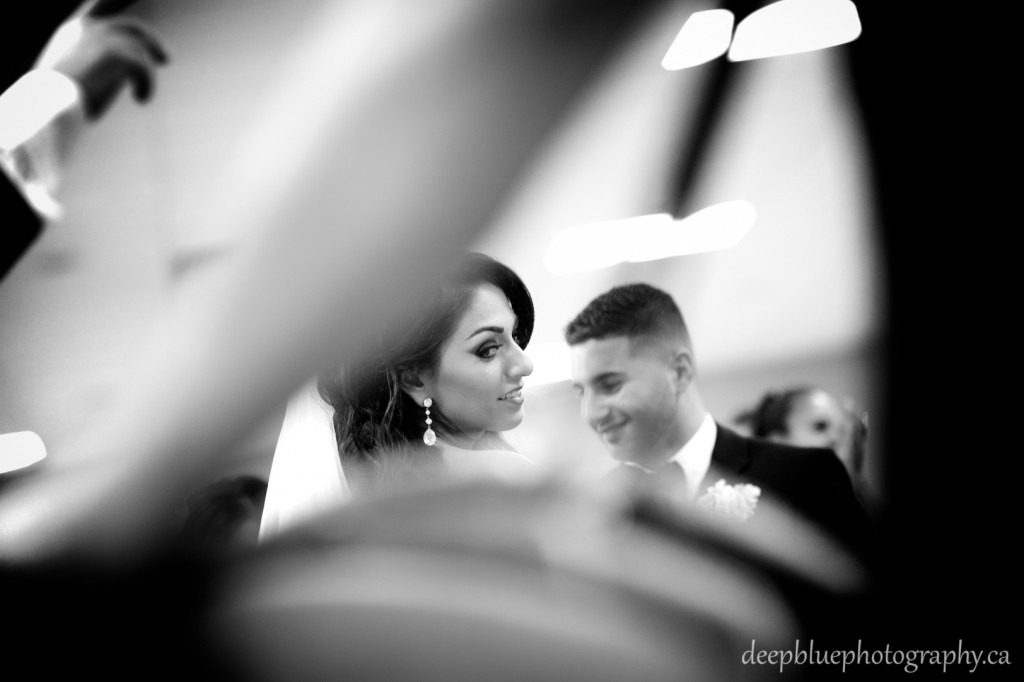 Edmonton Lebanese Wedding Photography- Bride and Groom dancing during wedding ceremony