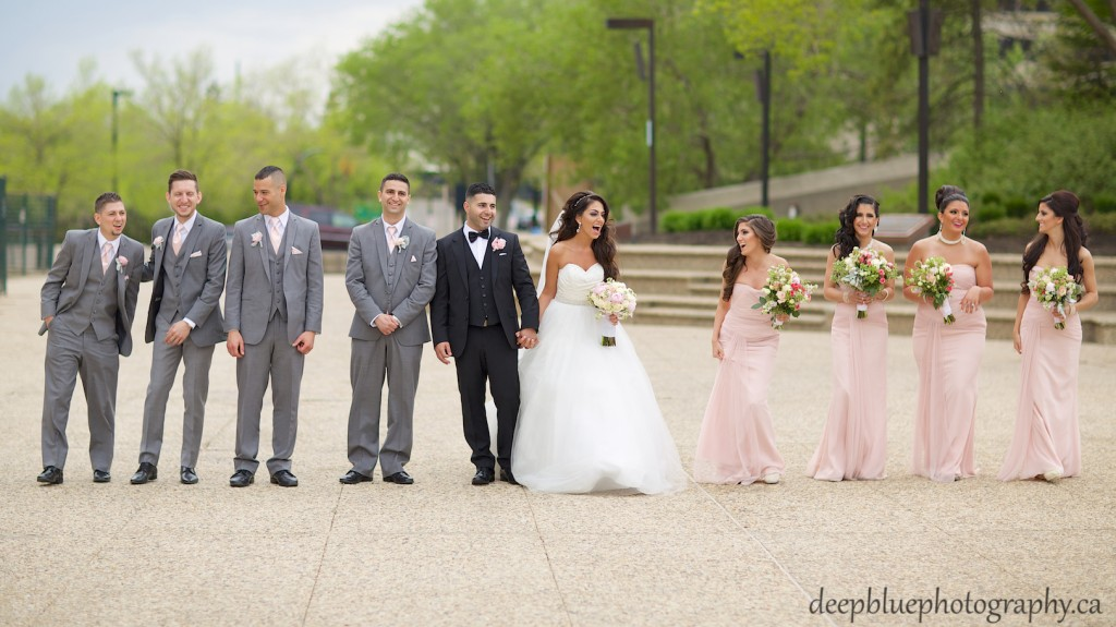 Edmonton Lebanese Wedding Photography - Candid Photo of Wedding Party