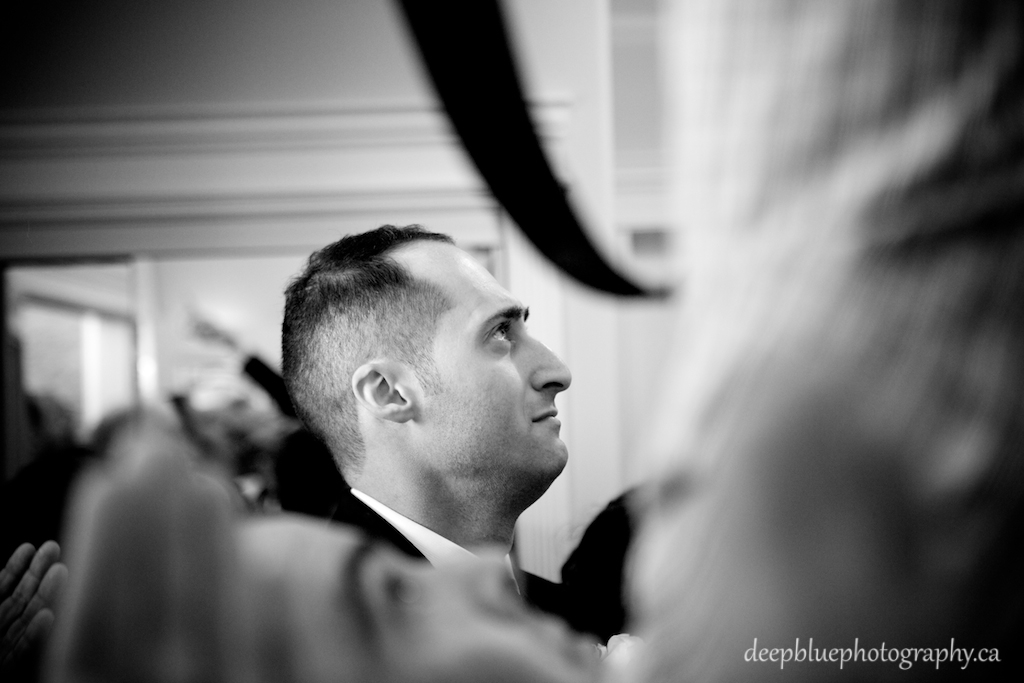 Photo of groom's tearful first look at the bride - Lebanese Wedding Photography