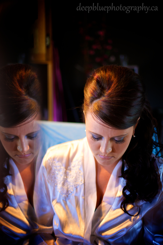 Photo of the bride before the wedding