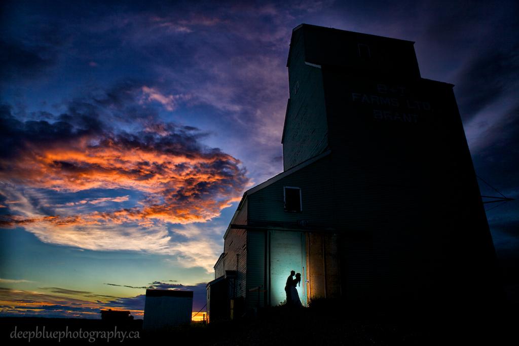 Wedding Portraits with Grain Elevator