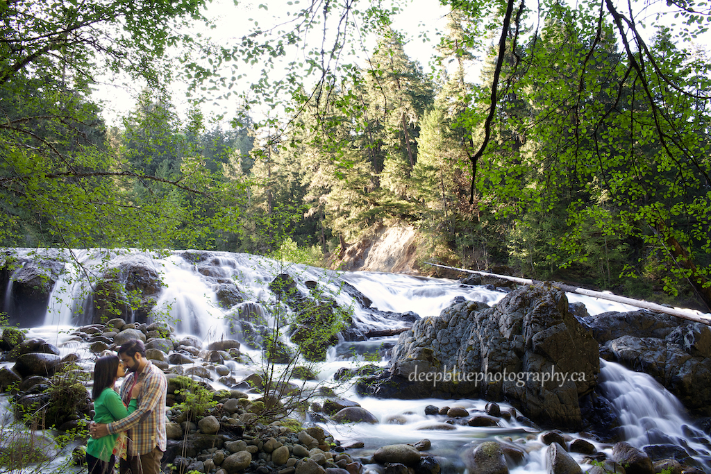 Aaron and Monica beside Englishman River Falls