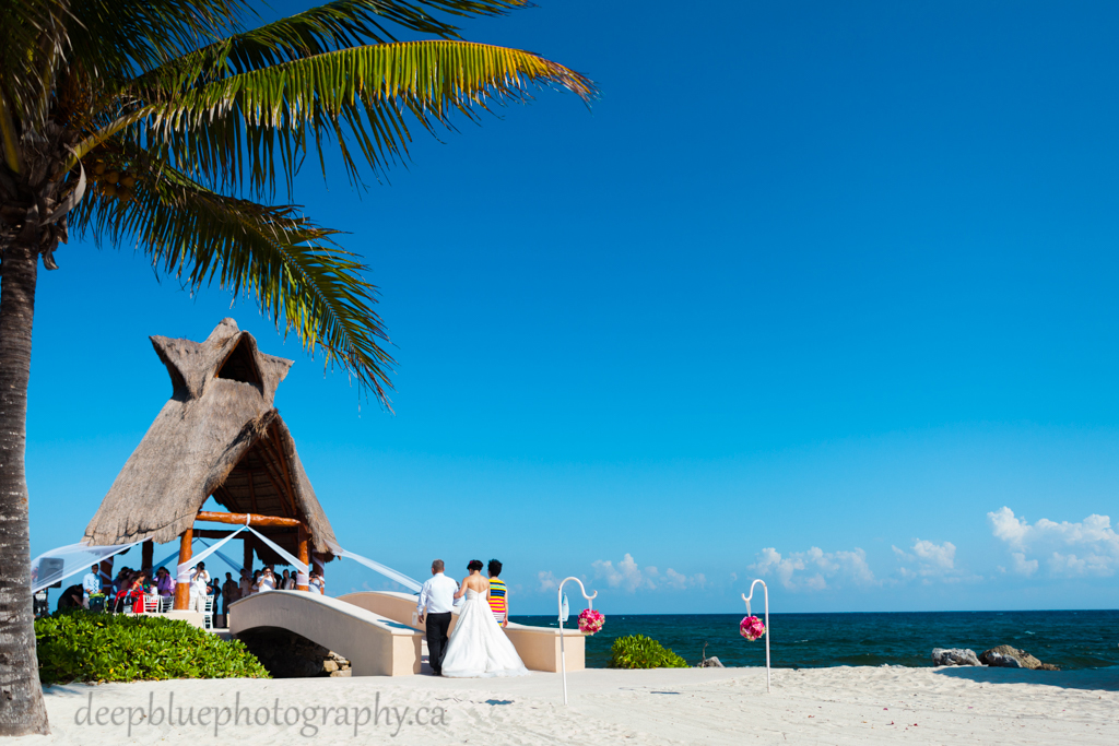 Dreams Puerto Aventura wedding ceremony