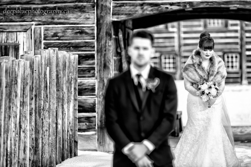 Outdoor Winter Wedding Photography Edmonton