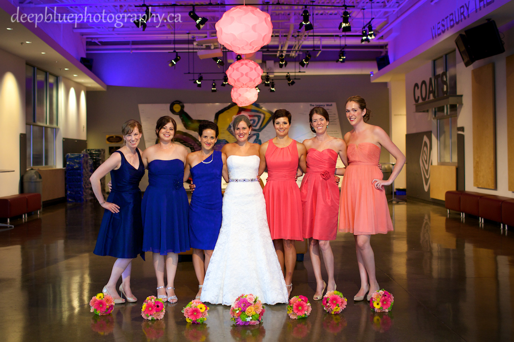 Bridesmaids at Fringe Arts Barn Wedding