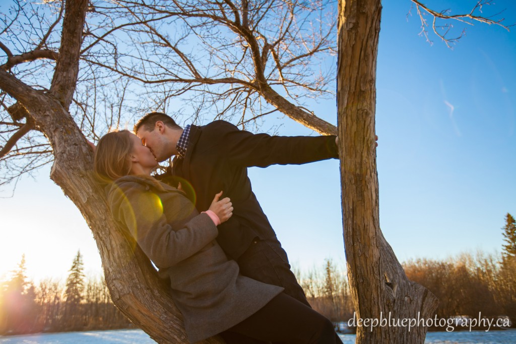 Sunset Engagement at Belgravia Park