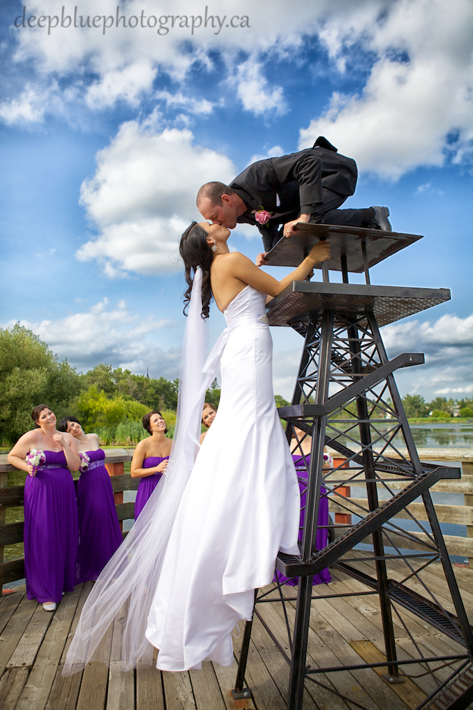 Lakeside Wedding Photos in Leduc