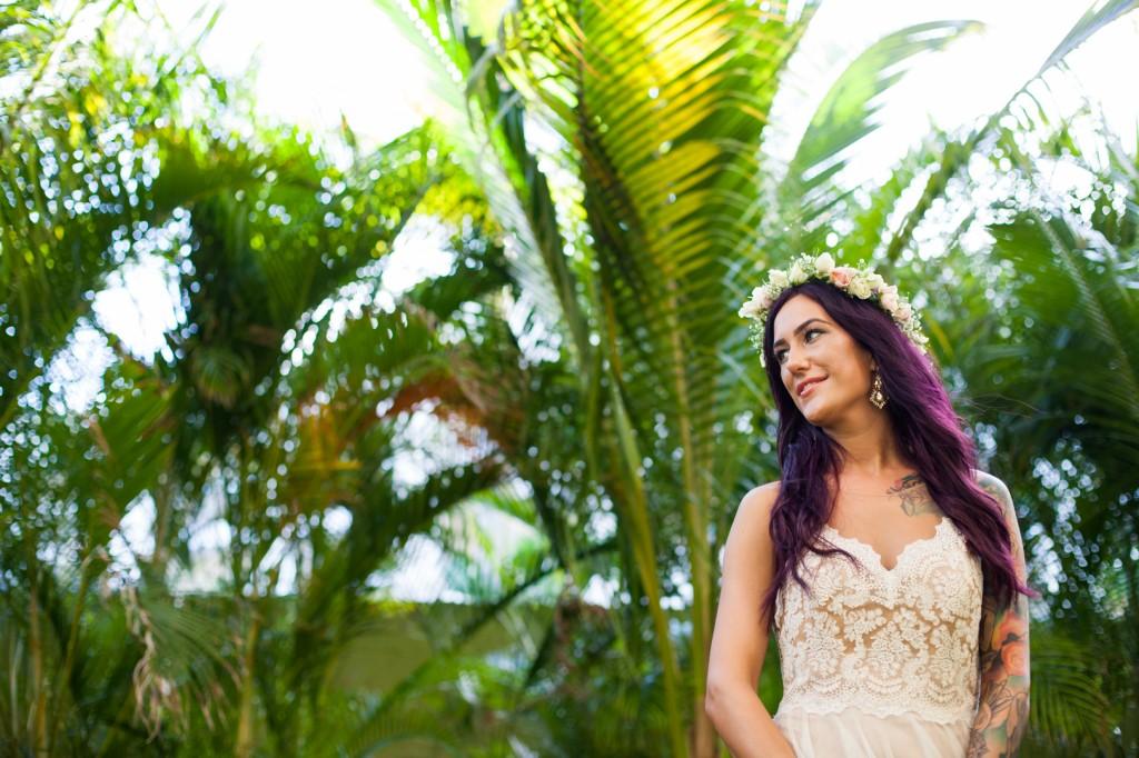 Portrait of Bride Mexico Wedding