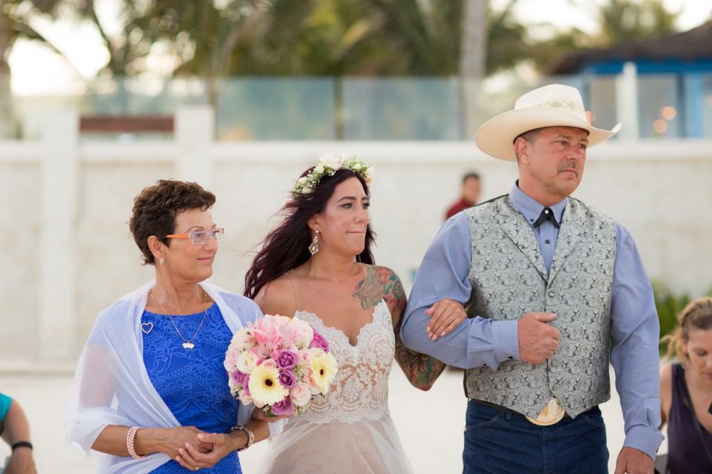 Bride Walking Down Aisle Destination Wedding