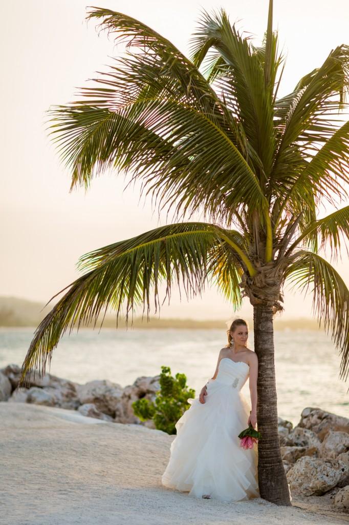 Bride Portrait Jamaican Wedding