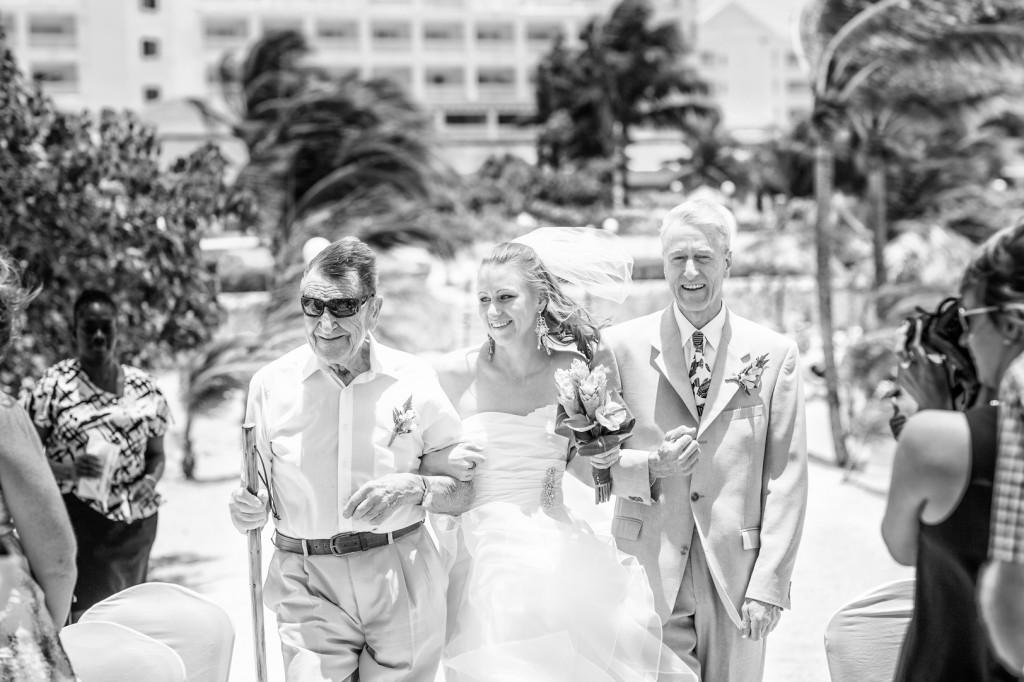 Edmonton Destination wedding photographers - Bride Walking Down Aisle Destination Wedding