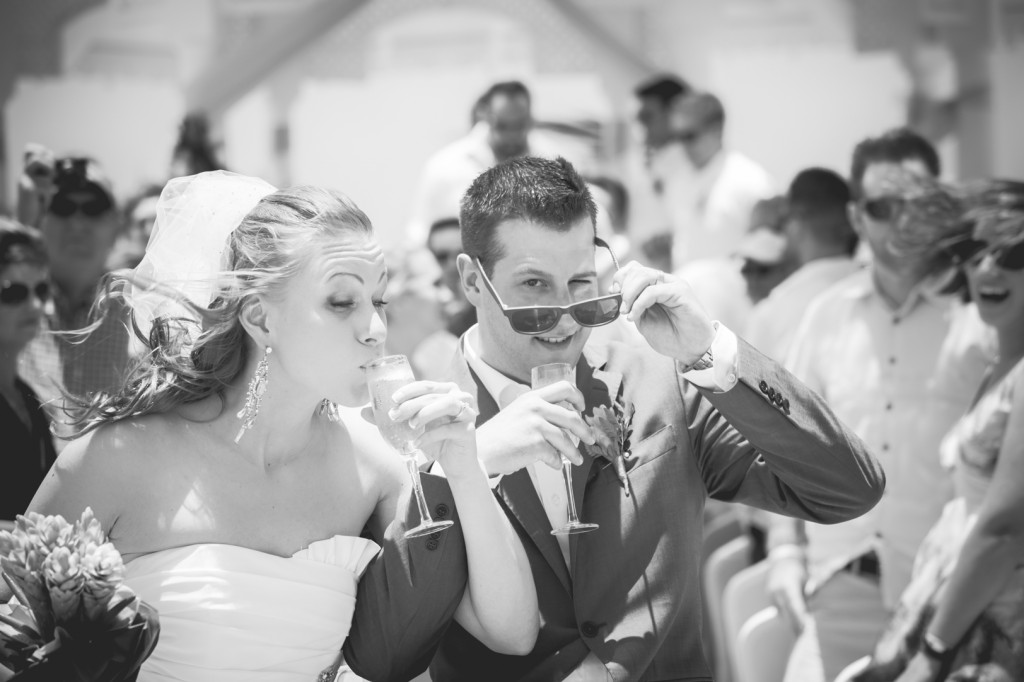 Bride and Groom Champagne