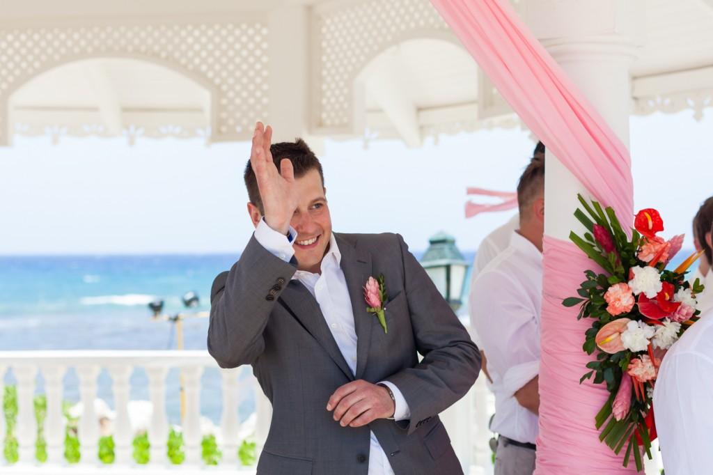 Groom First Look at Bride