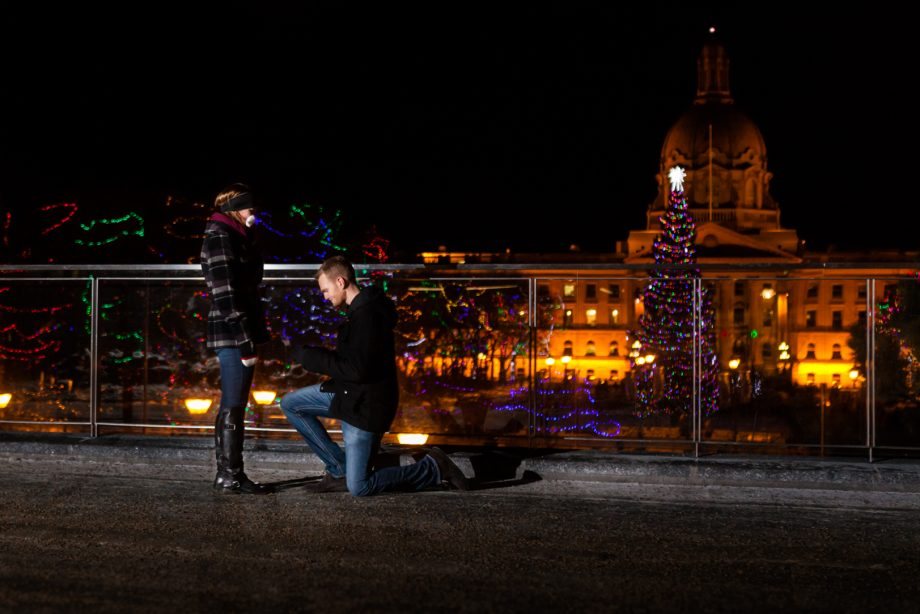 Winter Proposal Edmonton – Jeff & Nicole's