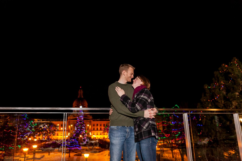 Surprise Winter Proposal Edmonton Photos