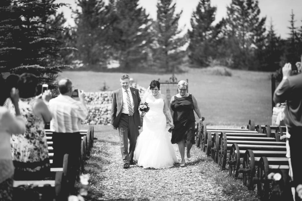 Lions Garden Wedding Bride Walking Down Aisle