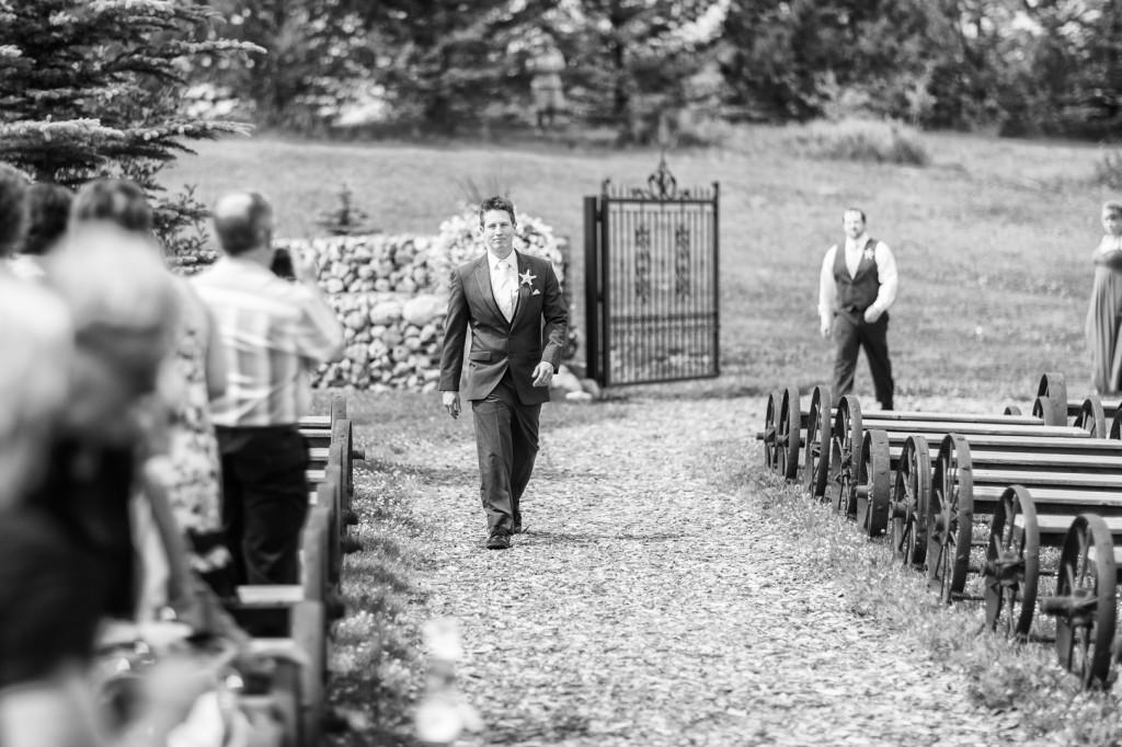 Lions Garden Wedding Ceremony Groom
