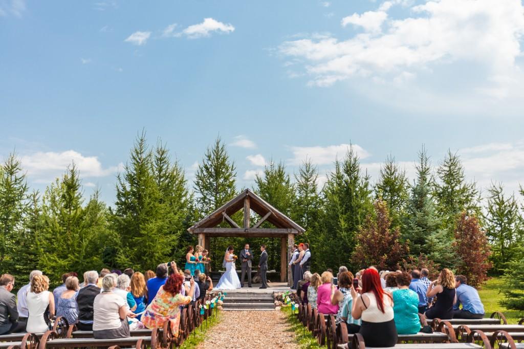 Outdoor Wedding Venues Edmonton - Lions Garden Wedding Ceremony Picture