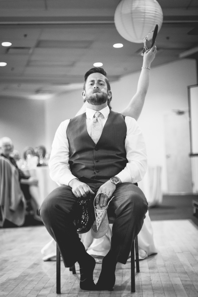 Black and White Wedding Reception Photos