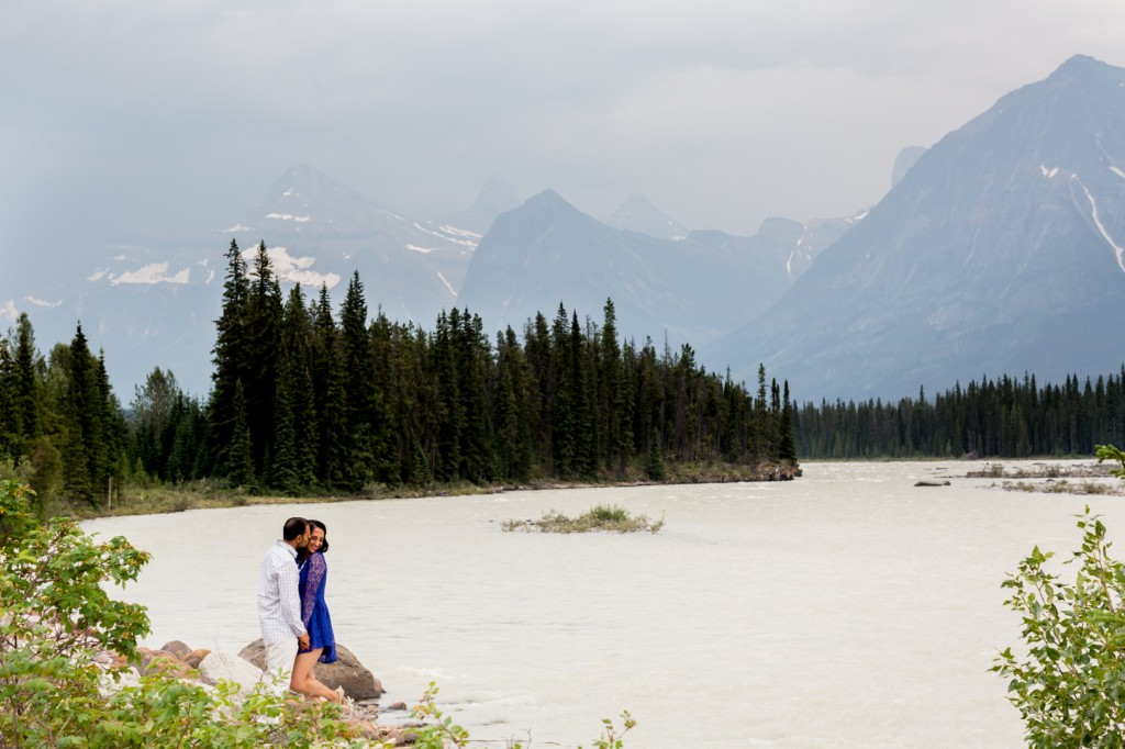 Jasper Engagement Photos - Athabasca River