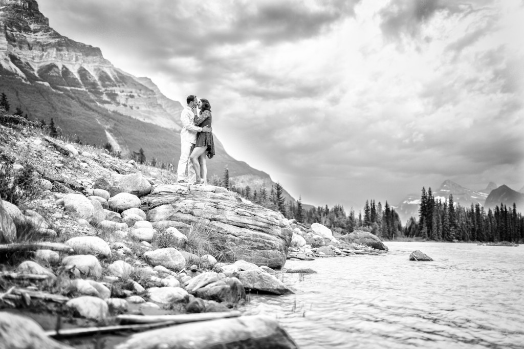 Athabasca Falls Photos - Jasper Engagement Photos