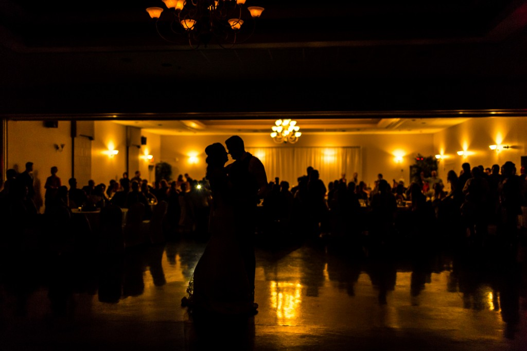 Silhouette of first dance
