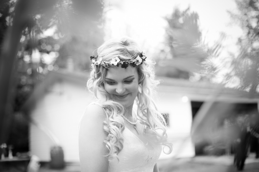 Portrait of Bride with Flower Crown