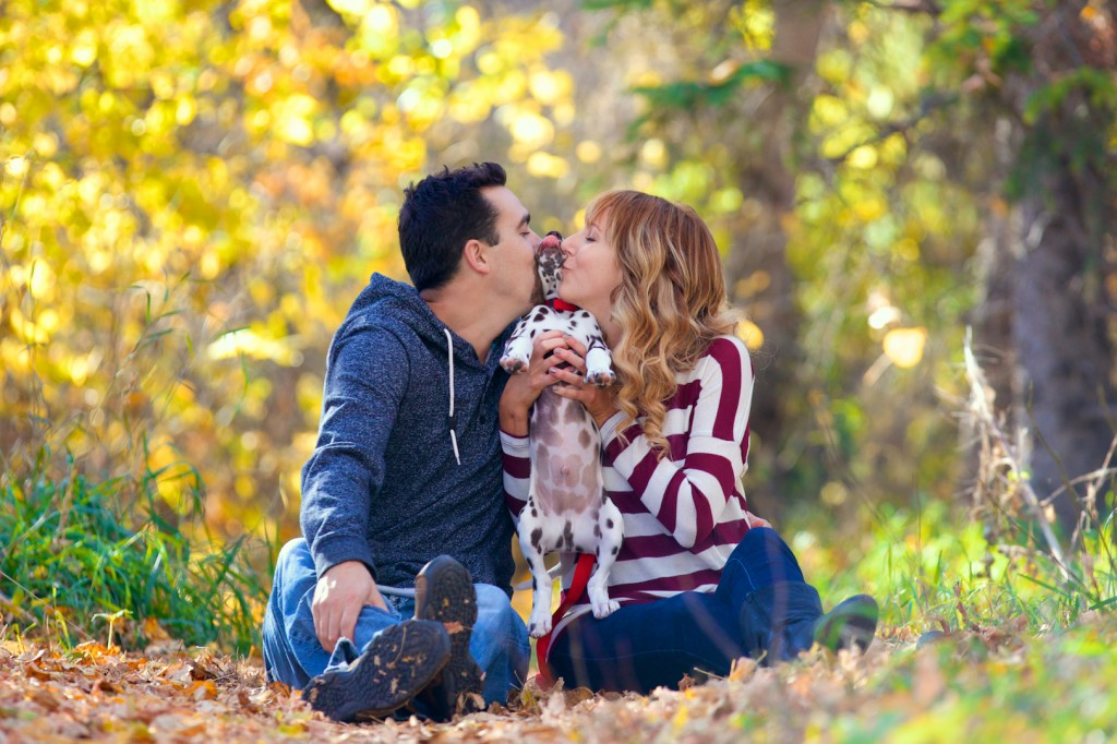 Engagement Photos with Puppy