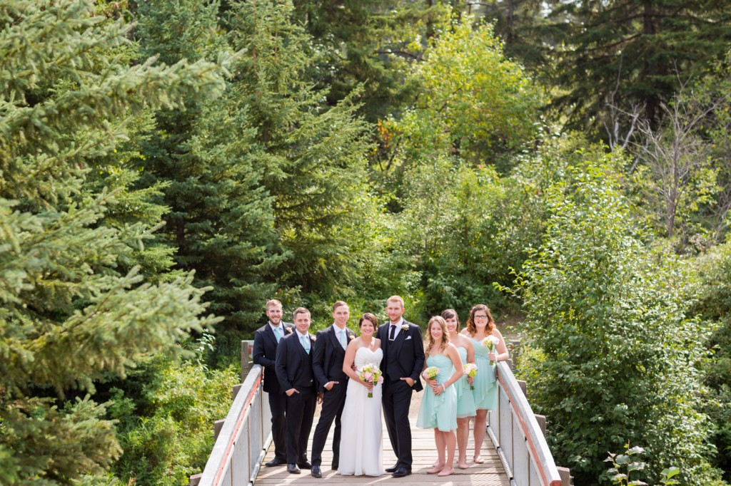 Snow Valley Wedding Party Photo